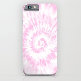 Lighter Pink Tie Dye iPhone Case