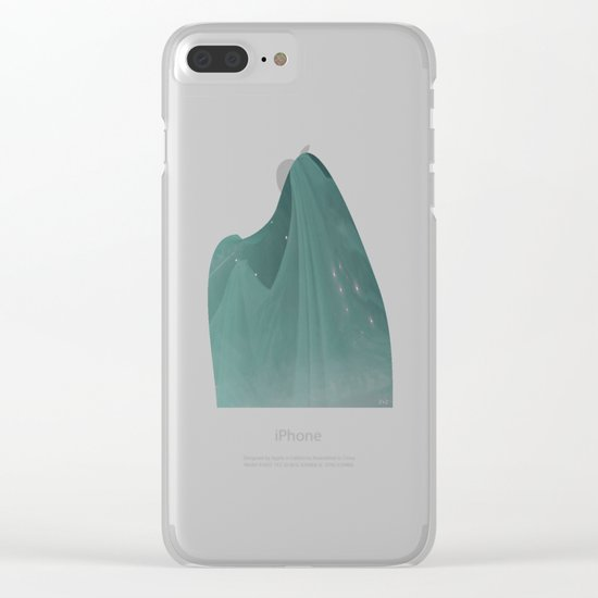 Green ghost Clear iPhone Case