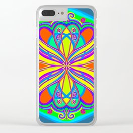 Pop Art Scarab Clear iPhone Case