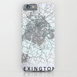 Lexington, KY, USA, White, City, Map iPhone Case