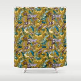 Moths & Orchids (Bamboo) Shower Curtain