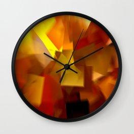 Cubistic Tendencies Wall Clock