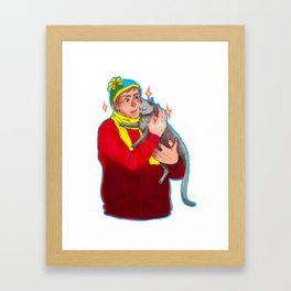 That's a Bad Kitty Framed Art Print