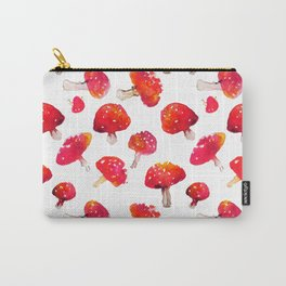 Fall toadstool watercolor pattern Carry-All Pouch