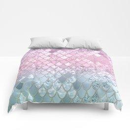 Mermaid Glitter Scales #2 #shiny #decor #art #society6 Comforters