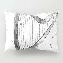 Harp, black and white Pillow Sham