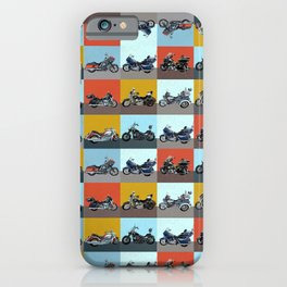 Motorcycle Squares 2 iPhone Case