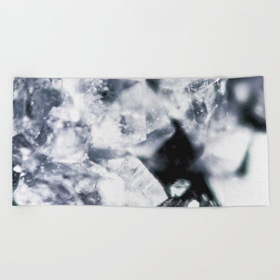 Geode Crystals Beach Towel