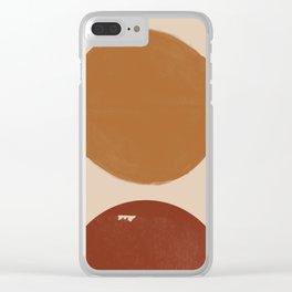 Burnt Orange Sun, New Boho Clear iPhone Case