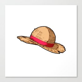 Luffy Straw Hat Canvas Print