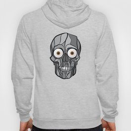 Skull With Eyes Scary Surprise Funny Hoody