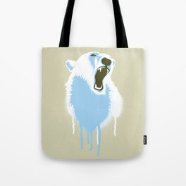 Polar Bear Head Tote Bag