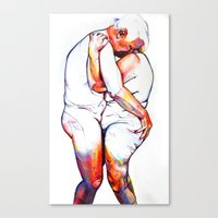 lovers Canvas Prints featuring Lovers by Allegra Jones