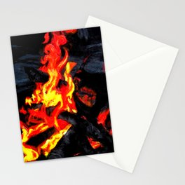 Night Fire Stationery Cards