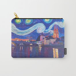 Starry Night in Regensburg  Van Gogh Inspirations on River Danube Carry-All Pouch