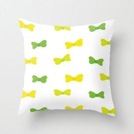 Bow Tie Pattern Throw Pillow