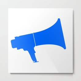 Blue Isolated Megaphone Metal Print