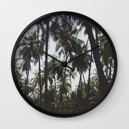 FOREST - PALM - TREES - NATURE - LANDSCAPE - PHOTOGRAPHY Wall Clock