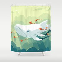 freeminds Shower Curtains featuring Nightbringer 2 by Freeminds