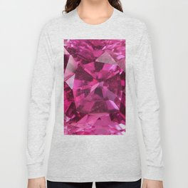 OCTOBER PINK SAPPHIRE BIRTHSTONE GEMS Long Sleeve T-shirt