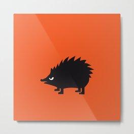 Angry Animals: hedgehog Metal Print
