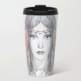 watercolor godess Travel Mug