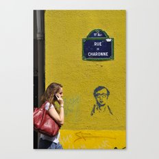 Woody's on a wall Canvas Print