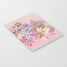 Sweet pastel pink flowers Notebook