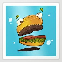 Derp Burger Art Print