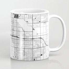 Fresno Map Gray Coffee Mug