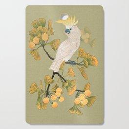 Cockatoo and Ginkgo Tree Cutting Board