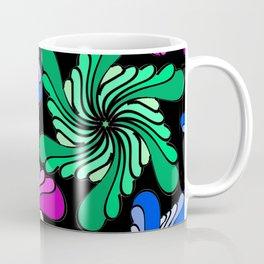 PinWheels on Black Coffee Mug