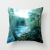 woods Throw Pillows featuring woods  by mark ashkenazi