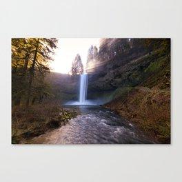 Sun Star Over South Falls Canvas Print