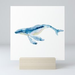 humpback buddy Mini Art Print
