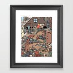 Artist in the Attic Framed Art Print
