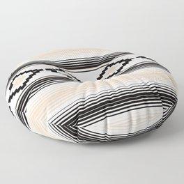 Modern Mexican Serape in Tan Floor Pillow