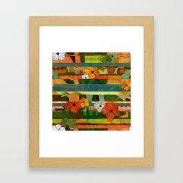Brasilian stripes Framed Art Print