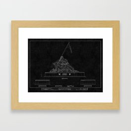 Marines Corps Memorial 2 Framed Art Print