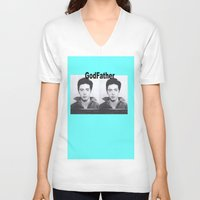 the godfather V-neck T-shirts featuring Godfather  by Buzzkill