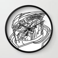 garrus Wall Clocks featuring Garrus by Cat Milchard