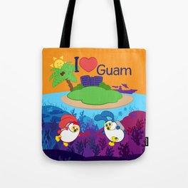 Ernest & Coraline | I love Guam Tote Bag