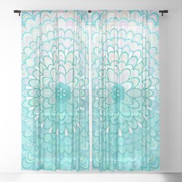 Ice Flower Mandala Sheer Curtain