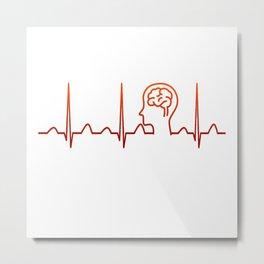 Neurologist Heartbeat Metal Print