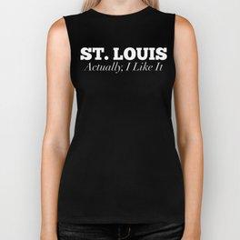 St. Louis Actually I Like It Funny St. Lous Biker Tank