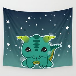 Kawaii Baby Dragon Wall Tapestry