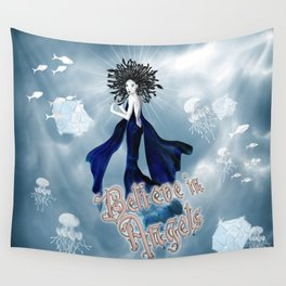 Believe in Angels Wall Tapestry
