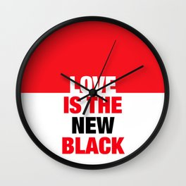 LOVE is the new black IV – Plain Wall Clock