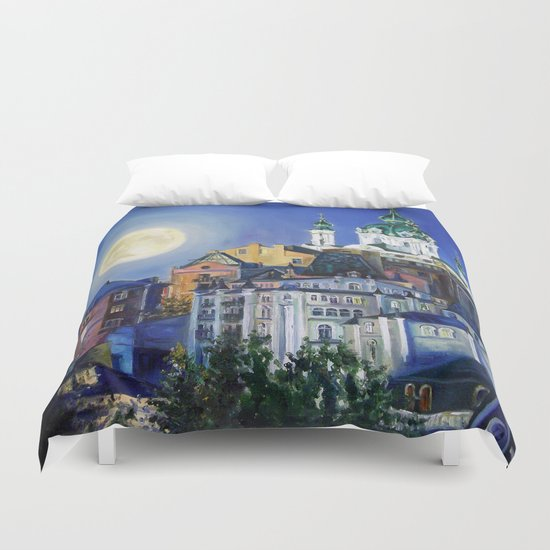 The church under the moon Duvet Cover