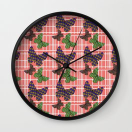Butterfly Picnic Wall Clock